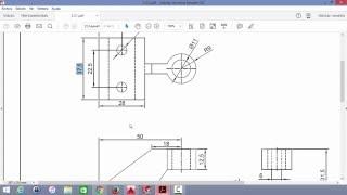 Proyección ortográfica en dibujo mecánico, ejercicio I