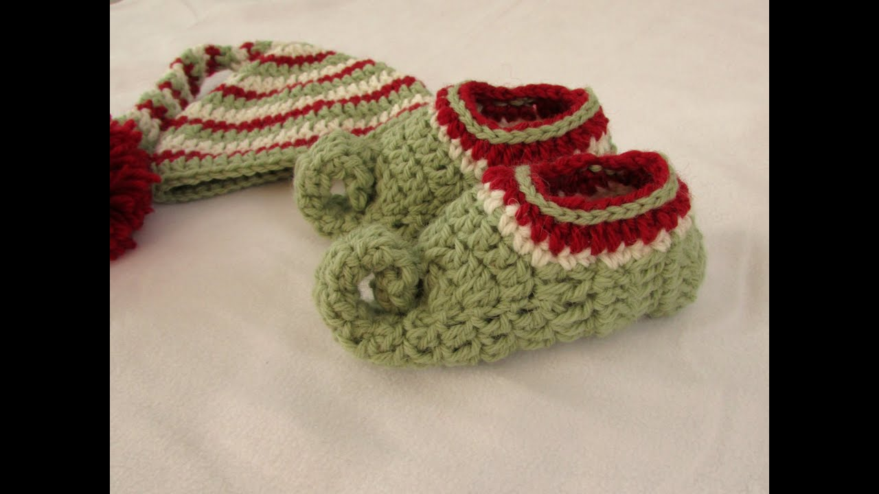 How to crochet childrens elf slippers / boots / shoes ...