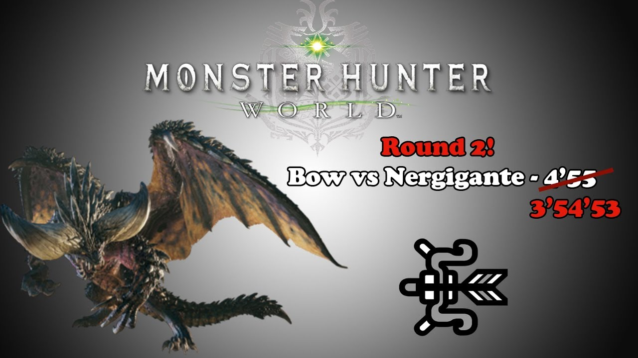Crossbow Vs Roundup [mhw Beta] Bow Vs Nergigante Round 2 - 3'54'53 - Youtube