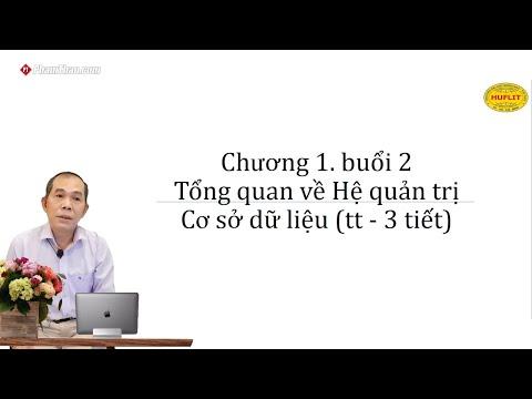 CNTT HUFLIT – Tổng quan về hệ cơ sở dữ liệu P2 – Thầy Phạm Đức ...