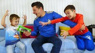 Давид НАШЕЛ ЛАЙФХАК чтобы Играть ЦЕЛЫЙ ДЕНЬ! Папа не РУГАЕТ! Для Детей Kids Children