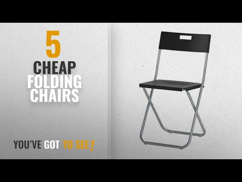 Top 10 Cheap Folding Chairs [2018]: Ikea Folding Chairs 4 Pack (4, Black)