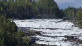 Storforsen Waterfall in Norrbotten, Sweden