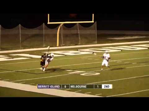 Boys High School Lacrosse - Merritt Island vs. Melbourne - 4/12/13