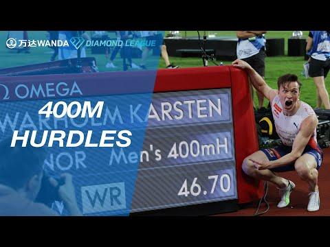 Karsten Warholm breaks world record with 46.70 in Oslo 400m hurdles - Wanda Diamond League 2021