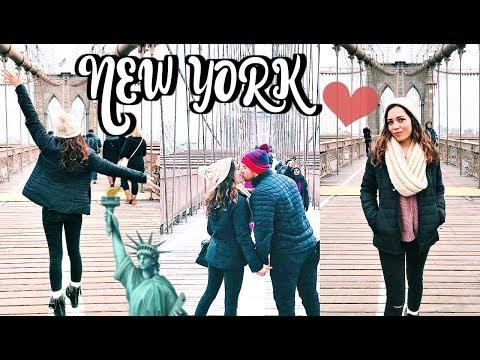 NYC DAY 2: BROOKLYN BRIDGE, TIMES SQUARE, STATUE OF LIBERTY!!!