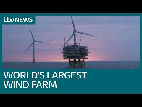World's largest offshore wind farm generates electricity for the first time | ITV News