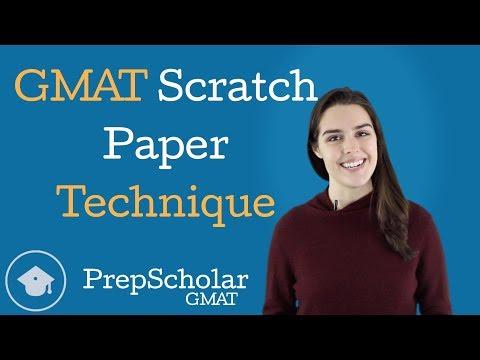 GMAT Scratch Paper Technique