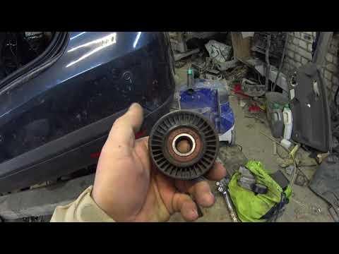 Замена натяжного ролика ремня генератора на Jetta