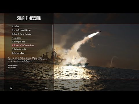 Cold Waters ELITE difficulty - single mission 6 - Skirmish In The Denmark Strait