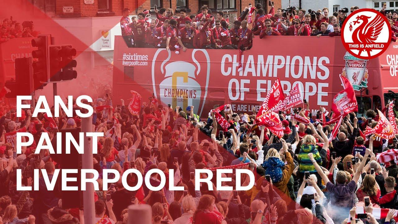 Liverpool FC Champions League Parade: Fans paint city red