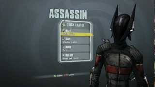 Borderlands 2 - Assassin Domination Pack (Ech0location head and Obsidian Justice skin)