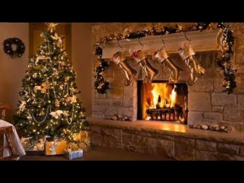2 Hour of Classic Christmas Music with a Fireplace and Beautiful Background (2018)