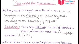 05- What Is Sequential File Organization In DBMS In HINDI | Sequential File Organization In DBMS