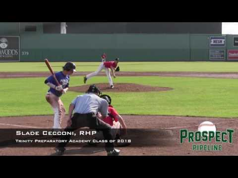 Slade Cecconi prospect video, RHP, Trinity Preparatory Academy Class of 2018