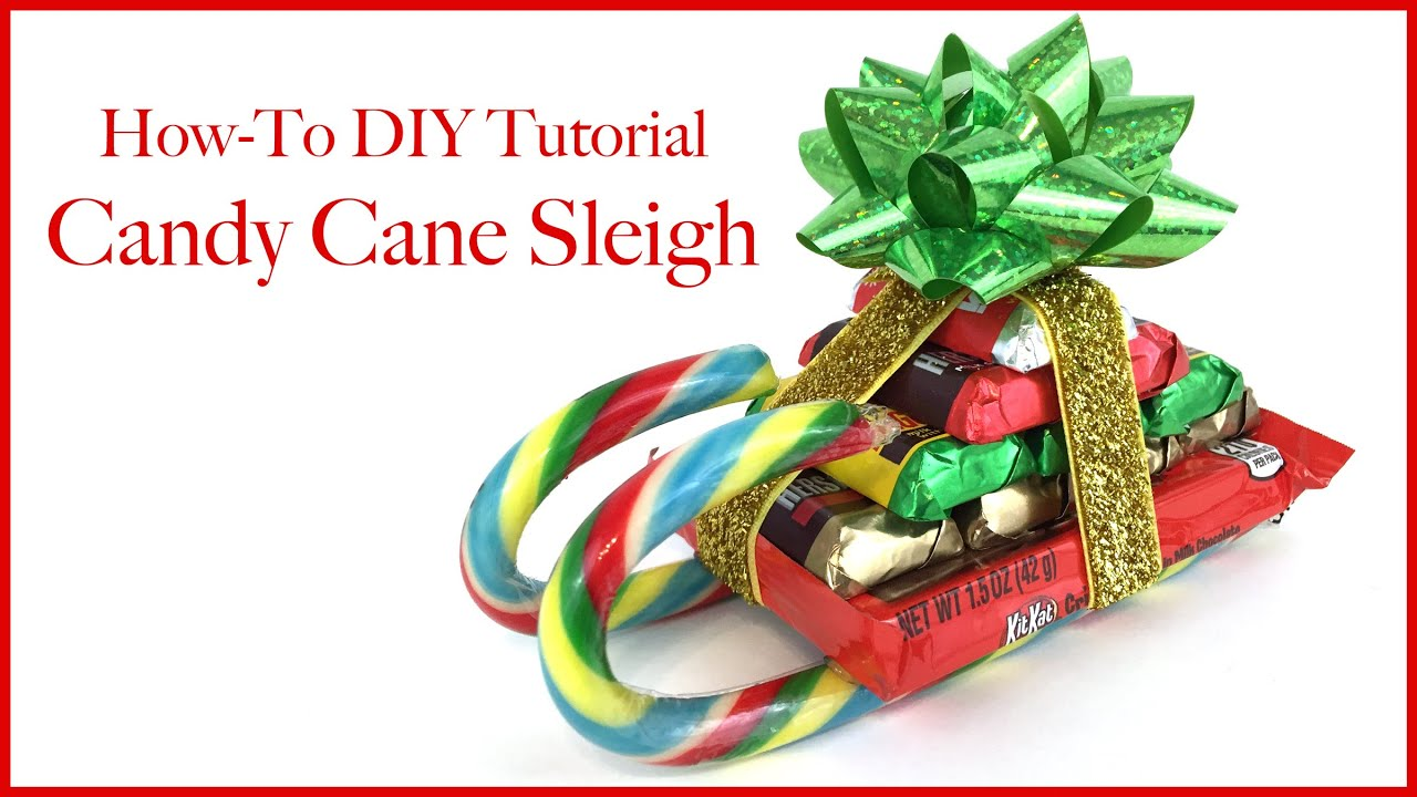 CHRISTMAS CANDY CANE SLEIGH HOW TO DIY TUTORIAL!!! - YouTube