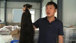 ◄|شاهد| خطوات صناعة «الباروكة» الصيني: تخيط خصل الشعر الواحدة تلو الأخرى - المصري لايت