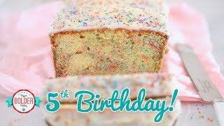 Birthday Pound Cake with LOADS of Sprinkles | Bigger Bolder Baking 5th Birthday Episode