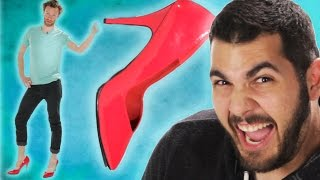 Guys Wear Heels For The First Time thumbnail