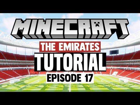 Minecraft Stadium Builds: Emirates Stadium [17] Stands