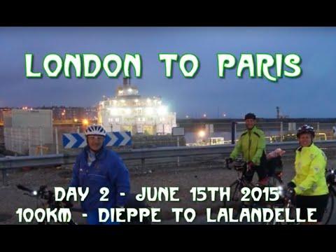 London To Paris 2015, Day 2, Dieppe To Lalandelle Down The Avenue Verte