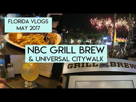 Day 7: Universal Citywalk and Dinner at NBC Grill   Orlando Vlogs May 2017