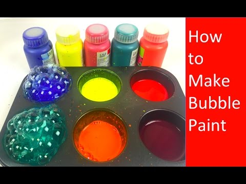 how to make frozen paint for kids bubble frozen paint for