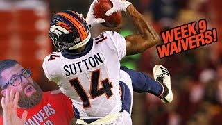 Waiver Wire Pickups Week 9 Fantasy Football 2018
