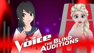 ✪ Yandere Chan - No Tears Left To Cry ✪ Blind Auditions ► The Voice M2L