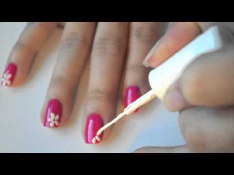 Ub Cute Flower Art Nail Design Youtube
