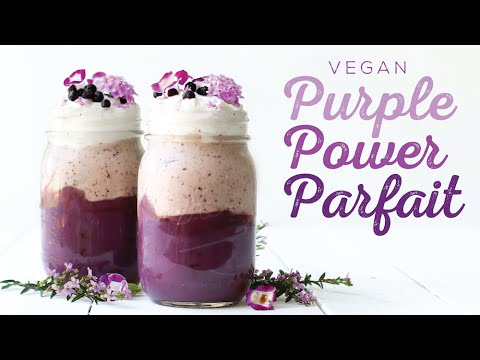Purple Power Parfait // HCLF vegan