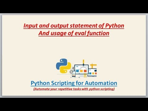 Complete Python Scripting for Automation | input and output statements of python thumbnail