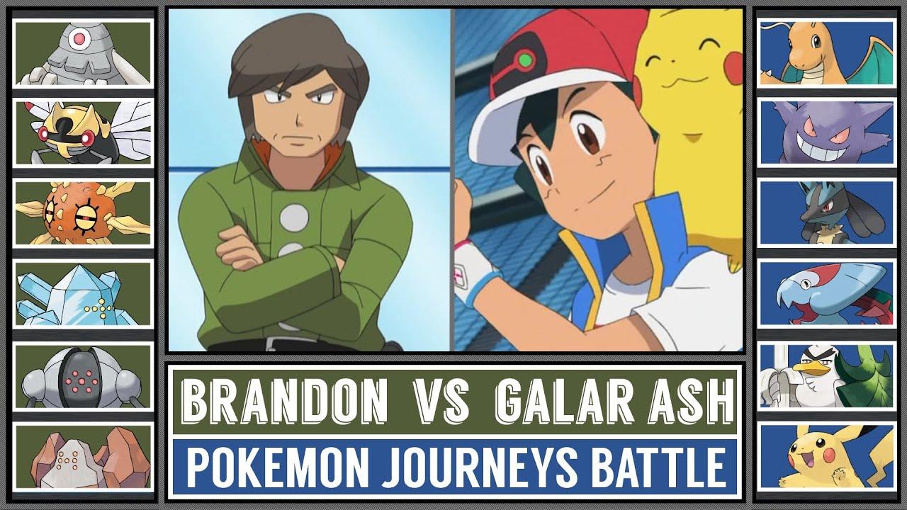 GALAR ASH vs PYRAMID KING BRANDON | Pokémon Battle
