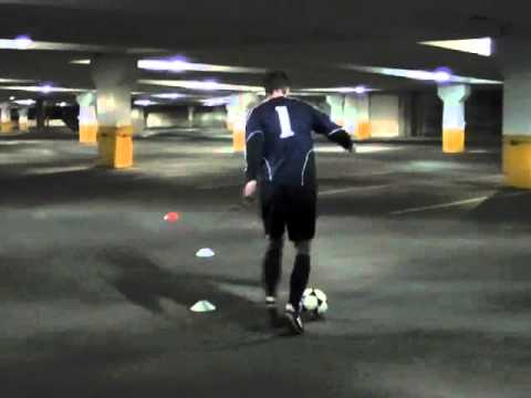 Dribbling Soccer Ball While Running to Dribble a Soccer Ball