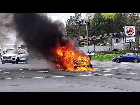 Newburgh Car Fire