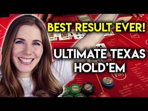 EPIC Ultimate Texas Hold'em Premiere Stream! $350/Hand!! My Best Result On Table Games So Far!!!