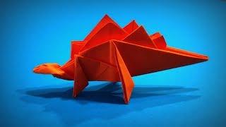 Origami Dinosaur | How to Make a Paper Dinosaur Stegosaurus DIY | Easy Origami ART | Paper Crafts