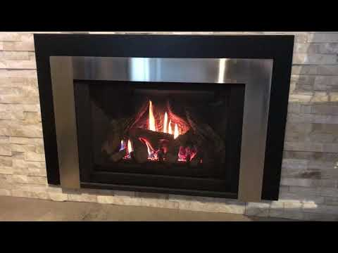 E30 gas insert by safe home fireplace