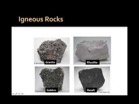 Rock type characteristics