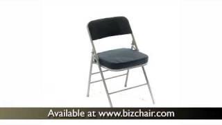 Hercules Navy Blue Fabric Metal Folding Chair (hf3-mc320afnvy-gg)
