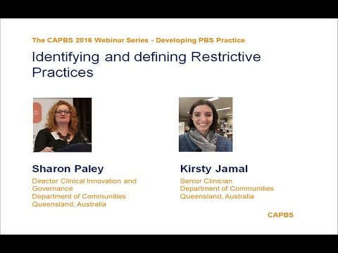 Identifying and Defining Restrictive Practices by Sharon Paley and Kirsty Jamal