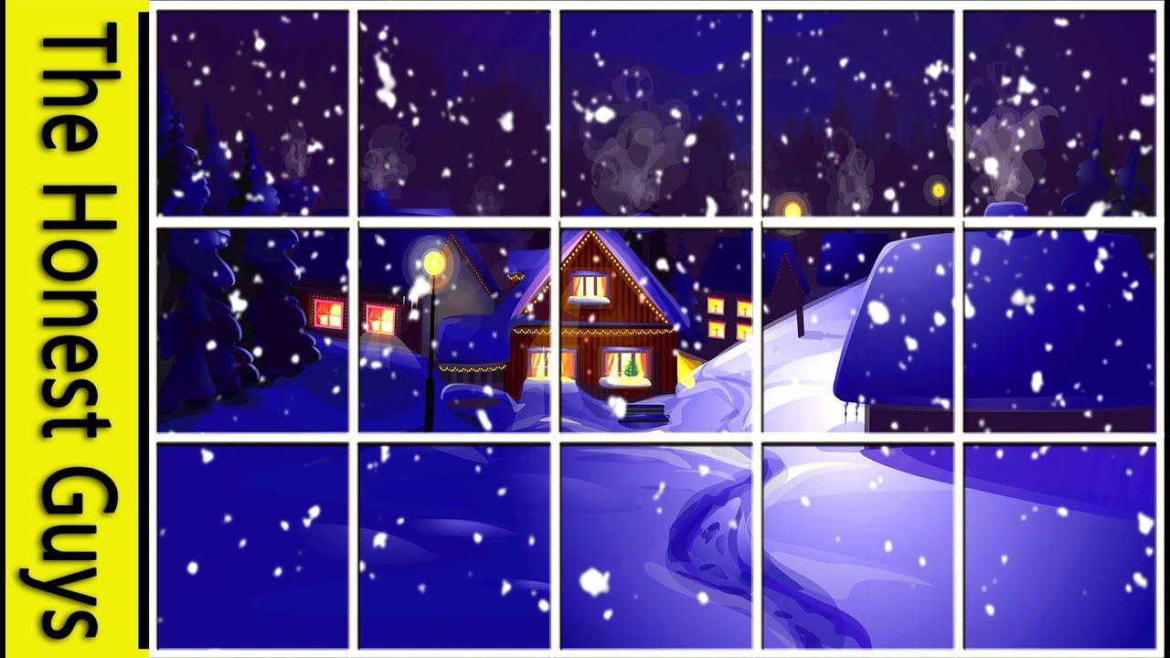 Animated Falling Snow Wallpaper Winter Window Snow Scene 4k Living Wallpaper With