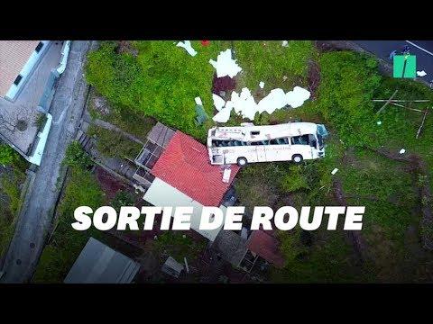 Madère : les images de l'accident de bus filmées par un drone