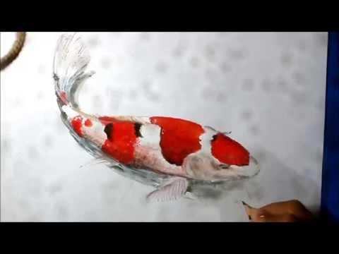 cara menggambar ikan koi - YouTube