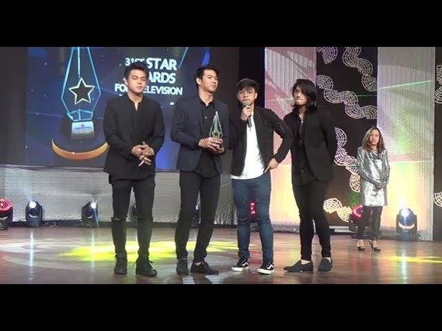 Naging Emosyonal ang hashtag members dahil sa pag alay ni vice ganda ng award kay Franco Hernandez