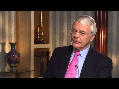 Interviewing John Major for CNN, Thursday 13th March