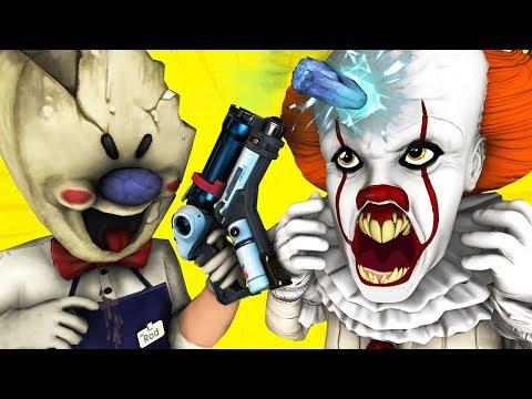 Мороженщик Vs Пеннивайз (Ice Scream 3 Оно Мисс Т Scary Teacher Училка Мобильная Хоррор 3D Анимация)