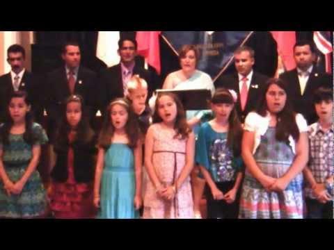 Portuguese School Children Singing National Anthem June 9 2012