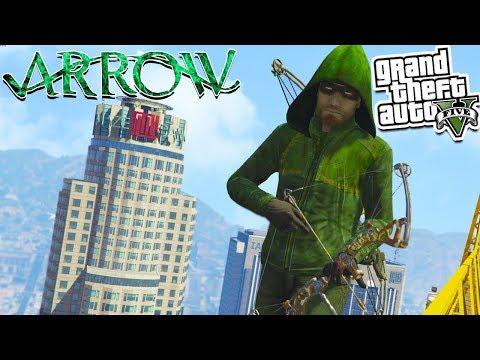 GTA 5 Mods: ARROW Super Hero MOD! 💥😜(GTA 5 Mods Gameplay)