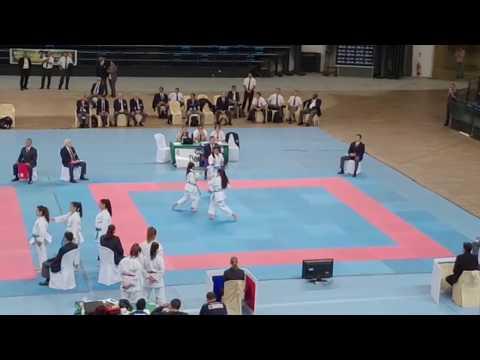 Final USA wins Gold in Kata Team Cadet and Junior Female at PKF Junior, Cadet Championships 2018